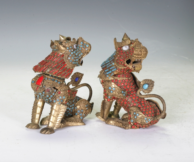 A Pair of Repose Copper Figures