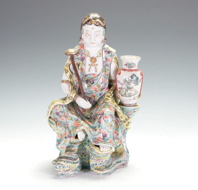 Famille Rose Guang Ying Figure