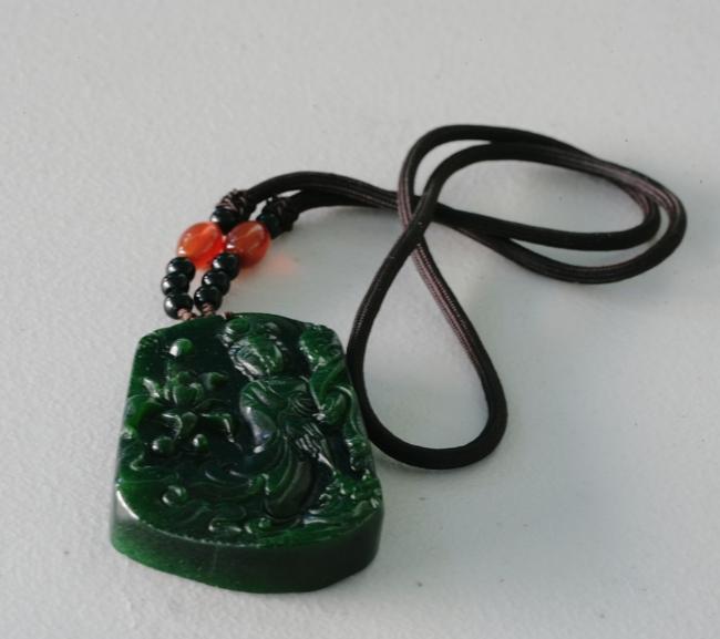 Chinese Spanish Jade Pendant