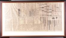 Framed first edition newspaper