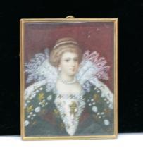 Ivory framed portrait
