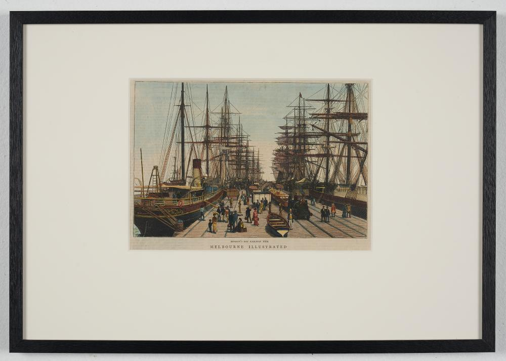 Charles Nettleton photographer (1826–1902) Hobson's Bay Railway Pier 1880 Melbourne Illustrated,