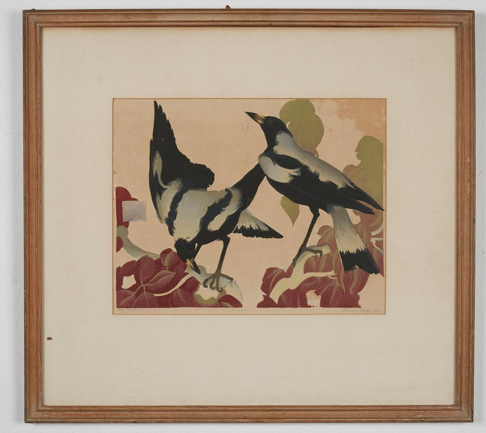 Vaughan Murray Griffin,(1903-1992) Magpies