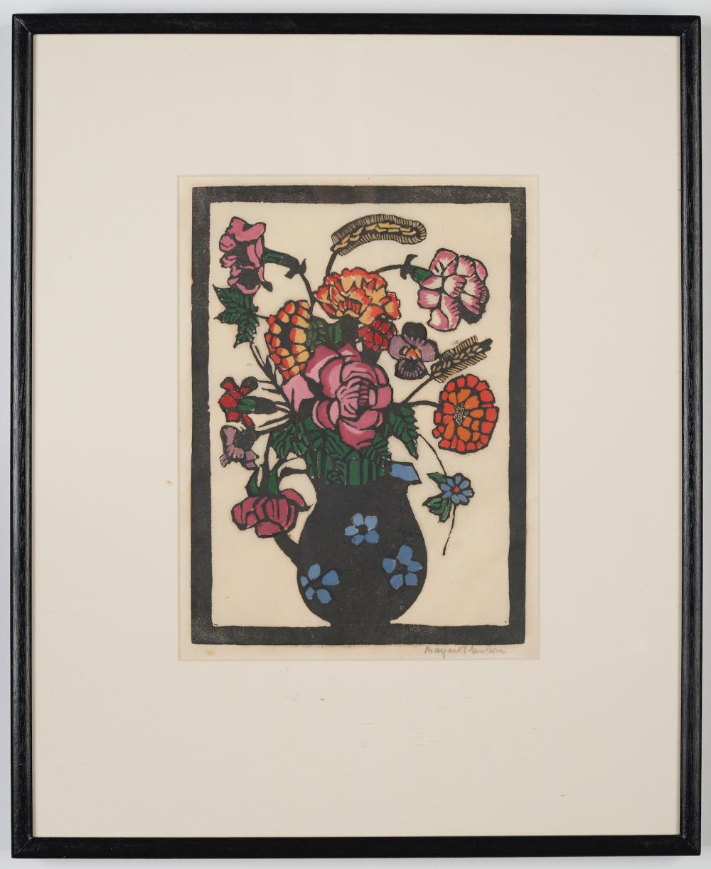 Margaret Rose Preston (1875-1963) Flowers in jug circa 1929