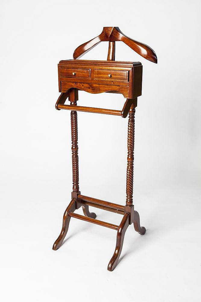 a mahogany valet stand sir malcolm s bedroom vintage gentleman s bedroom valet with storage chairish