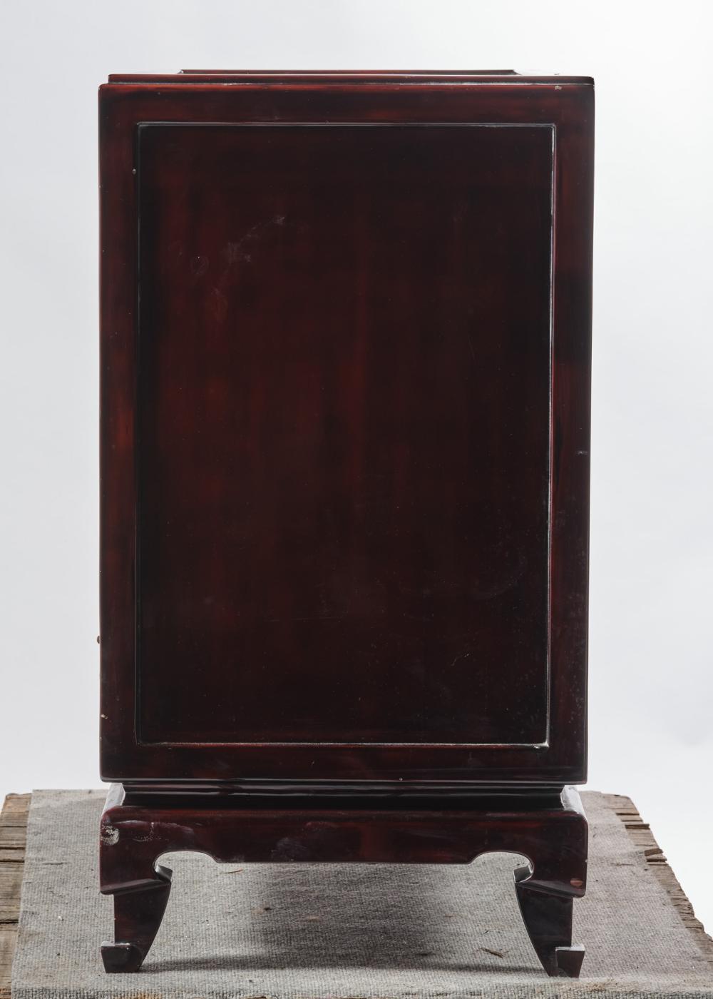 Commode Petite Profondeur 30 Cm commode en bois laqué, ouvrant à quatre tiroirs