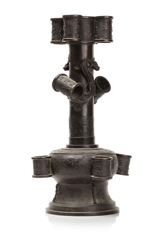 Matériel Pour Patiner Un Meuble vase à haut col en bronze, touhu