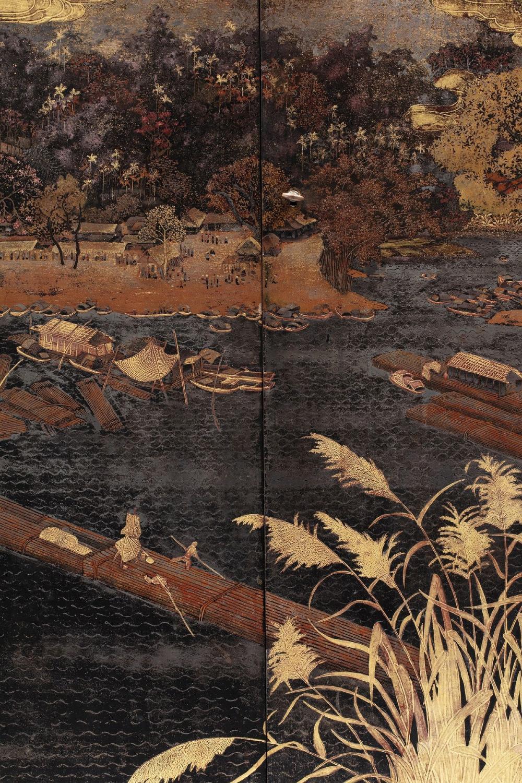 PHAM HAU (1903-1995) - Important et rare cabinet en bois laqué
