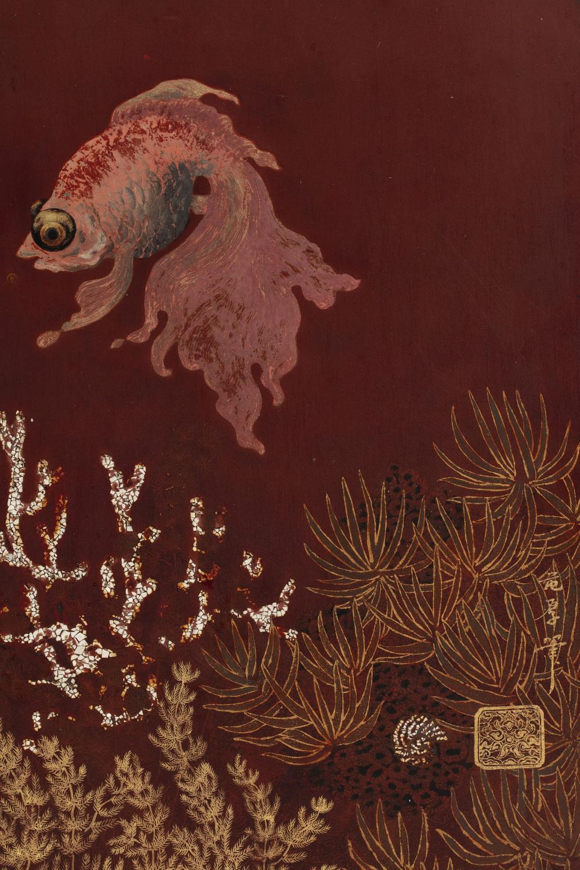 PHAM HAU (1903-1995) - Poisson Rouge avec l'abondance / Goldfish of Abundance, 1940s