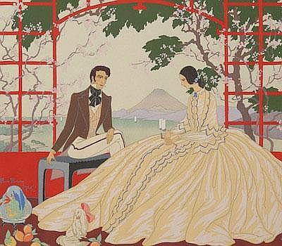 Victor Max Ninon (French, 1896-1982) Au Japon.