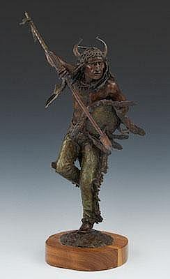 Daro Flood (American, b. 1954) Blackfoot Dancer.