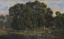 A Large Italian Landscape Painting