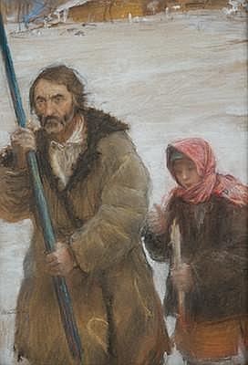 Theodor Axentowicz (Polish-Armenian, 1859-1938) A