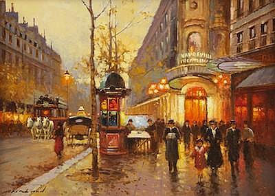 Yuri Kuzmin (Russian, b. 1949) ParisTheatre du