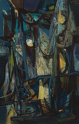 John Teyral (American, 1912-1999) UntitledAbstract