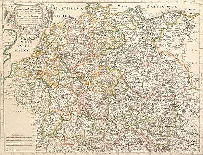 """""""Empire d'Allemagne, divisé en ses dix Cercles""""  by Nicholas Sanson"""