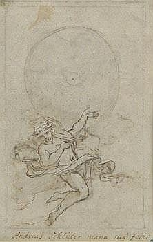 Drawing Inscribed Andreas Schluter (German, 1600-1714)