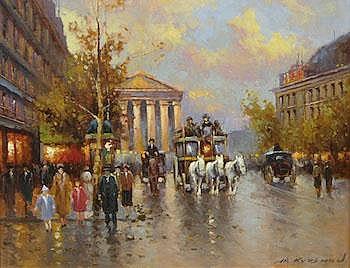 Yuri Kuzmin (Russian, b. 1949) Parisian street