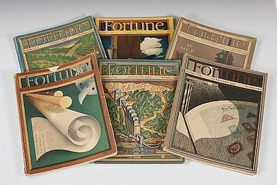 A Lot of Six Fortune Magazines