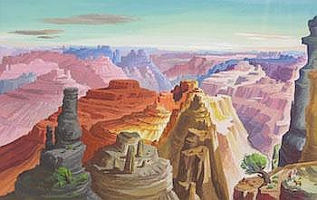 Ted Hawkins (American, b. 1910): View of the Grand