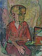 William Sommer (American, 1867-1949): Boy in Red, William Sommer, Click for value