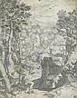 St. Hubert by Cornelius Cort (Flemish, ca., Cornelis Cort, Click for value