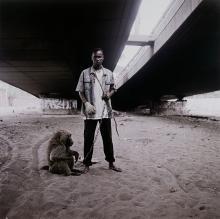 Animal handler with Ajasco, Lagos, Nigeria, 2007 (From the 'Gadawana Kura' - The Hyena Men Series II)