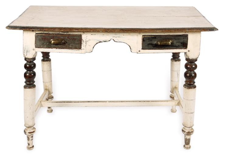 A Late Victorian Mahogany And White Painted Dressing Table