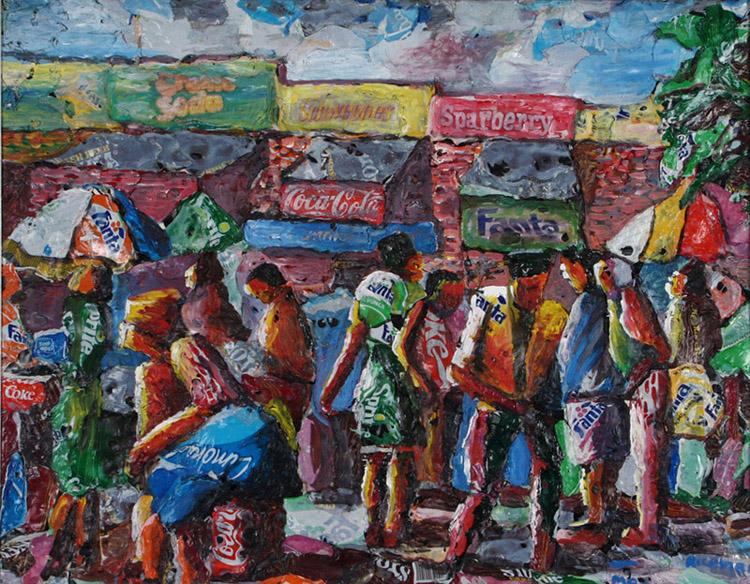 Mbongeni Buthelezi, Bustling street scene