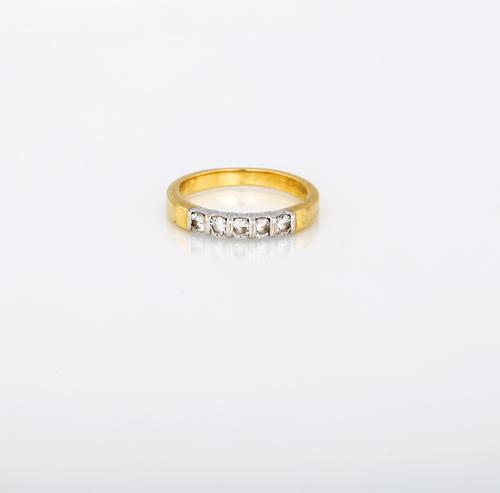 DIAMOND WEDDING RING MEZZA FEDE CON BRILLANTI