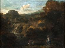 18TH CENTURY PAINTER LE CASCATELLE DI TIVOLI  TIVOLI SMALL WATERFALLS18TH CENTURY PAINTER
