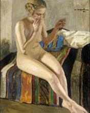 PAINTER OF THE BEGINNING OF THE  20TH CENTURY NUDO DI DONNA WOMAN
