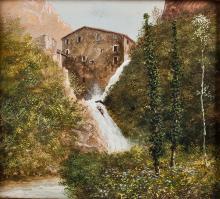 19TH CENTURY PAINTER PAESAGGIO LANDSCAPE