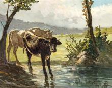 SCOGNAMIGLIO GIUSEPPE MUCCA AL PASCOLO GRAZING COW