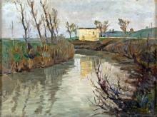 GIUSEPPE MALAGODI, ATTRIBUTED LA CASA SUL FIUME THE HOUSE ON THE RIVER