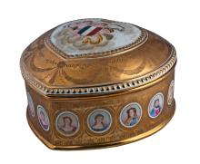 GRANDE SCATOLA IN PORCELLANA LARGE PORCELAIN BOX