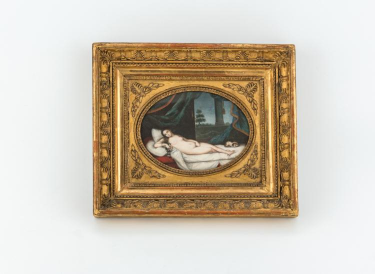 Coppia di miniature dipinte su avorio, XIX secolo | Pair of painted miniatures on ivory, XIX Century