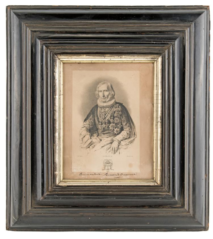 Cornice in legno ebanizzato, XVIII secolo, | Ebonized wooden frame, XVIII Century