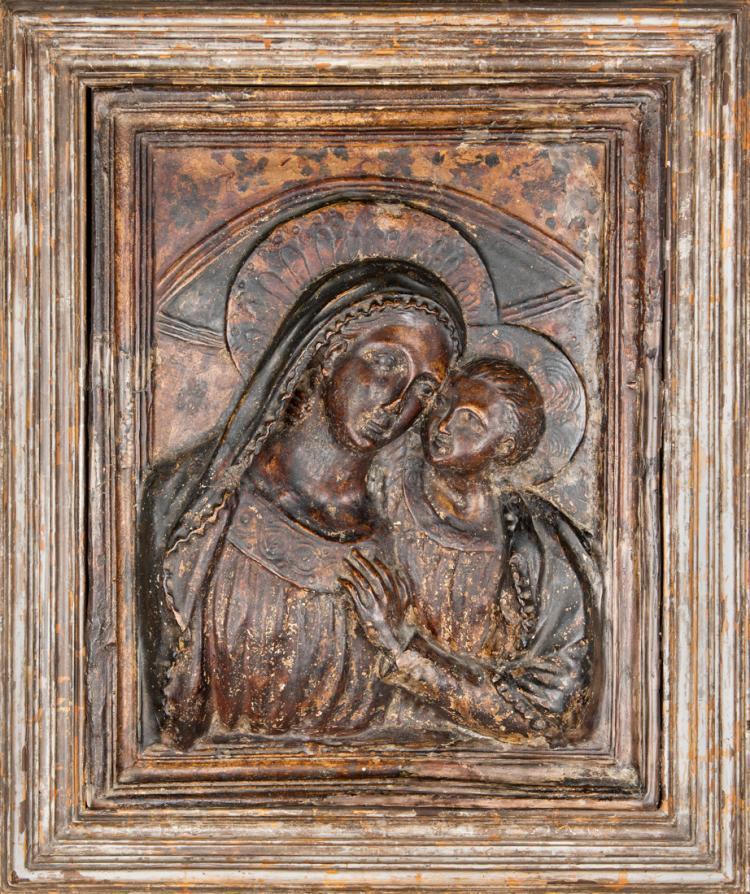 Madonna con Bambino, XVIII secolo.   Madonna and Child, the XVIII Century.