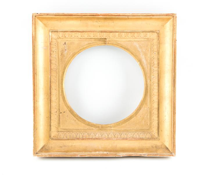 Cornice in legno dorato, inizi del XIX secolo. | Gilded wooden frame