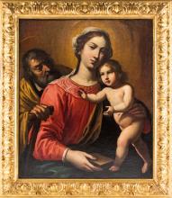 ANTONIO DE BELLIS, ATTR. A   NAPOLI 1630-NAPOLI 1660   Sacra Famiglia.   Holy Family