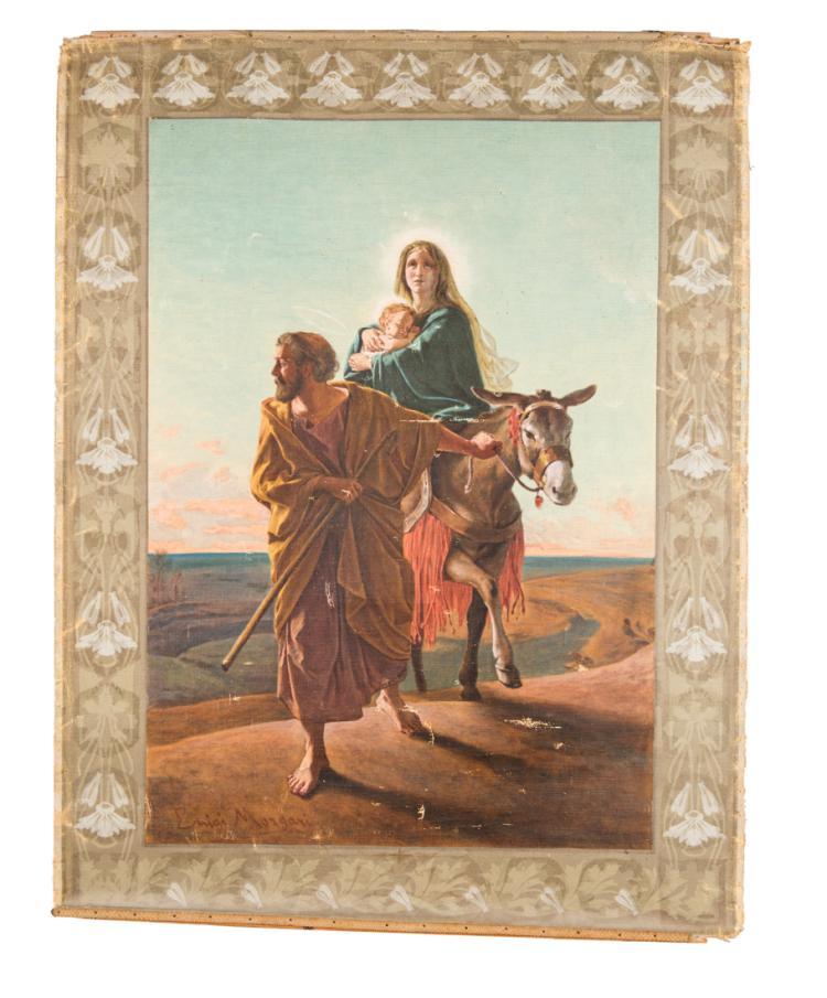 LUIGI MORGARI | Torino 1857–Torino 1935 | Fuga in Egitto. | Flight into Egypt