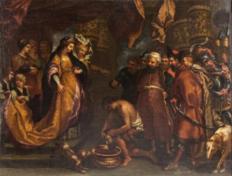 SCUOLA FIAMMINGA DEL XVII SECOLO Regina di Pomiri. | Queen of Pomiri