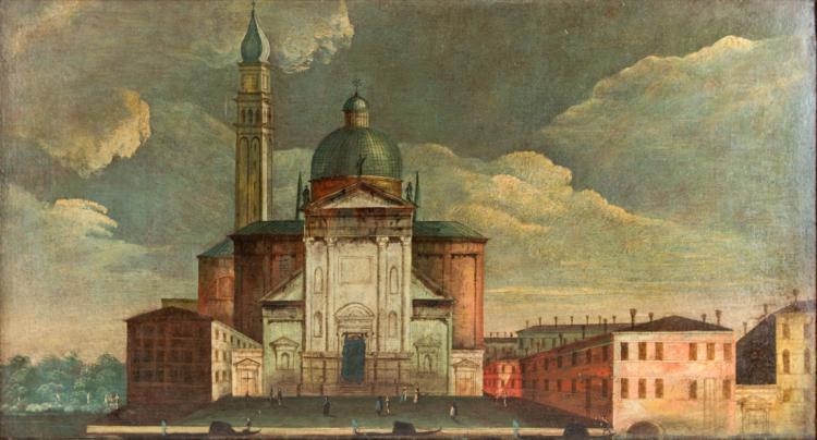 SCUOLA VENETA DEL XVIII Basilica di San Giorgio Maggiore a Venezia.   Church of San Giorgio Maggiore in Venice