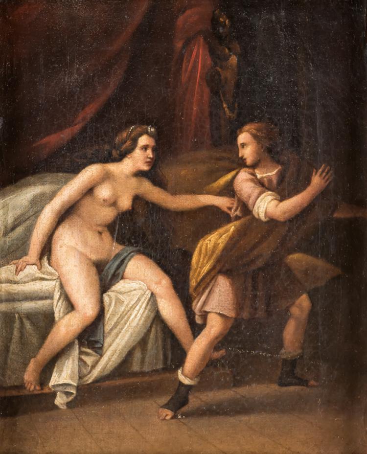 PITTORE DEL XVIII SECOLO Castità di San Giuseppe. | Chastity of St. Joseph