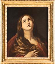 SCUOLA EMILIANA DEL XVII SECOLO Maddalena Penitente.   Penitent Magdalene.