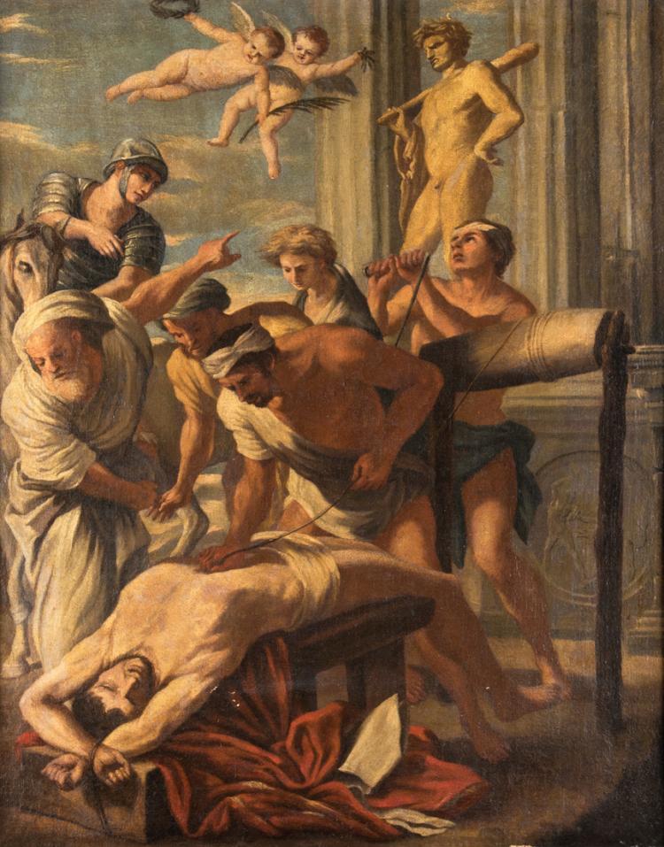 SEGUACE DI NICOLAS POUSSIN Martirio di Sant'Erasmo | Martyrdom of St. Erasmus