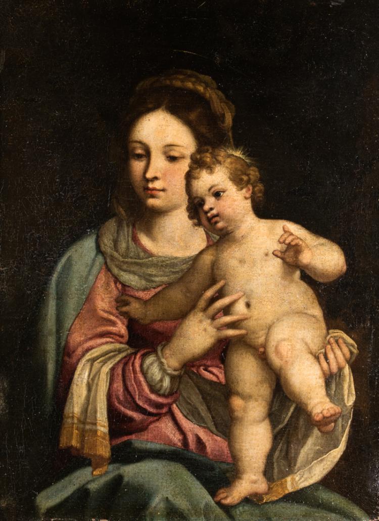 PITTORE DEL XVIII SECOLO Madonna con Bambino | Madonna and Child