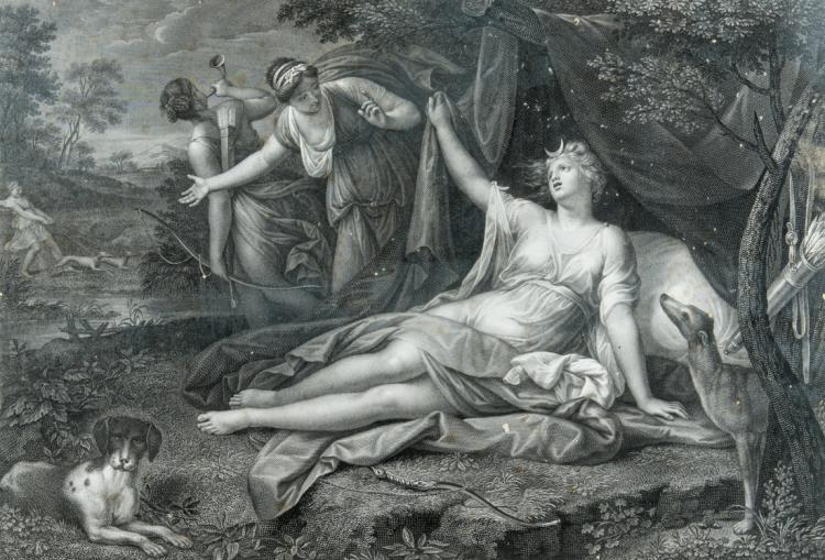 Diana Cacciatrice e Galatea, Inizi XIX secolo. | Diana the Huntress and Galatea, Early XIX Century.
