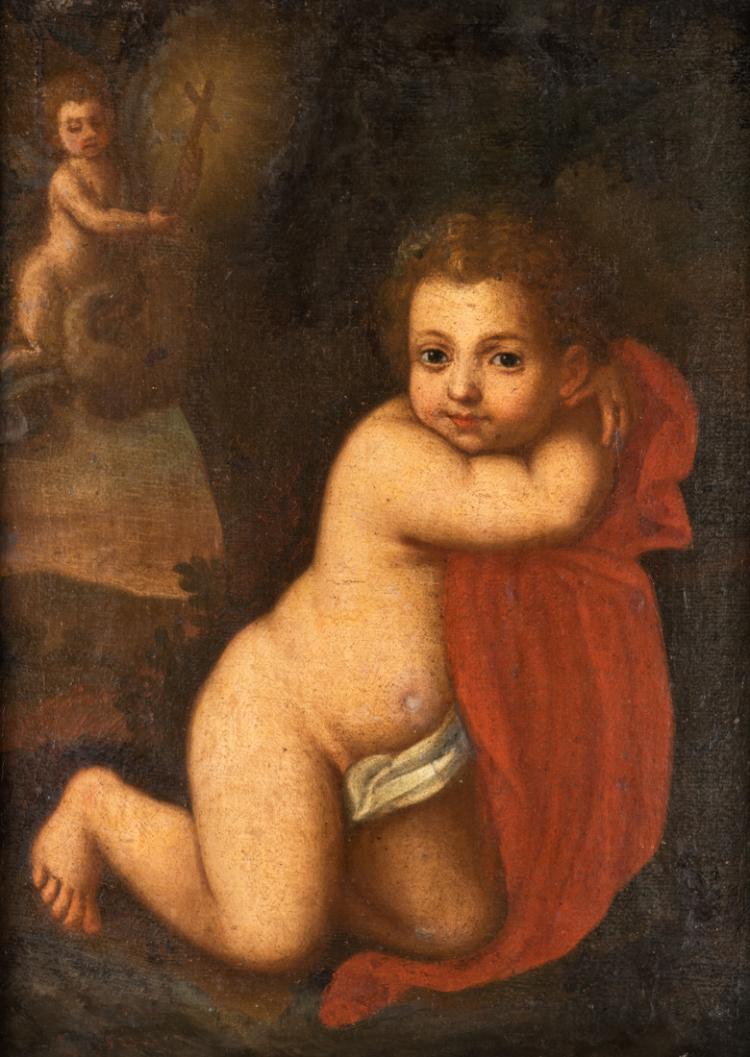 PITTORE DEL XVIII SECOLO Visione del Bambino Gesù. | Vision of the Child Jesus.
